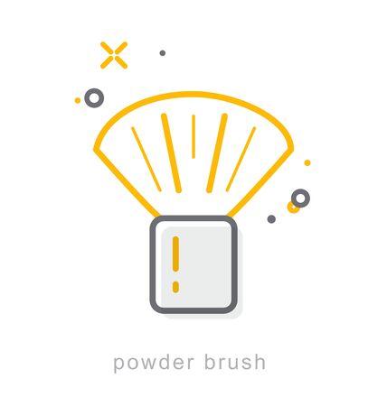 Thin line icons, Linear symbols, Powder brush