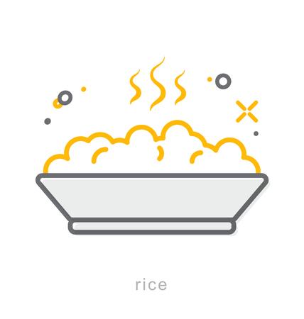 Thin line icons, Linear symbols, Rice
