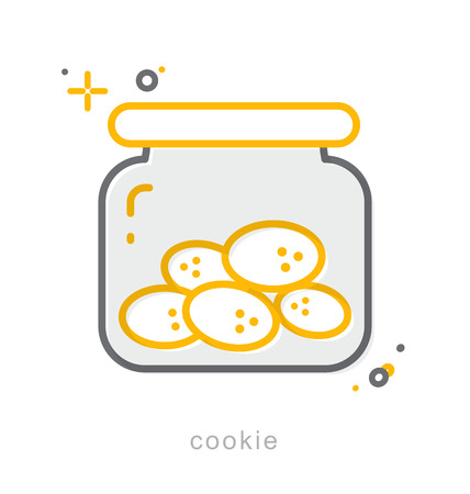 Thin line icons, Linear symbols, Cookie