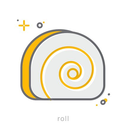 fruitcakes: Thin line icons, Linear symbols, Roll