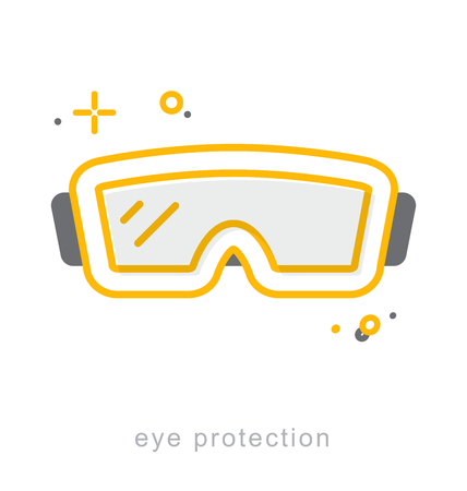 Thin line icons, Linear symbols, Eye protection