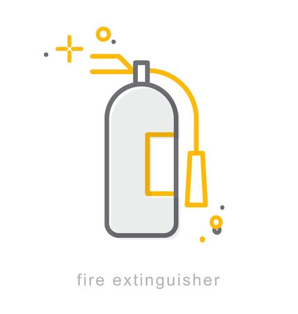 Thin line icons, Linear symbols, Fire extinguisher