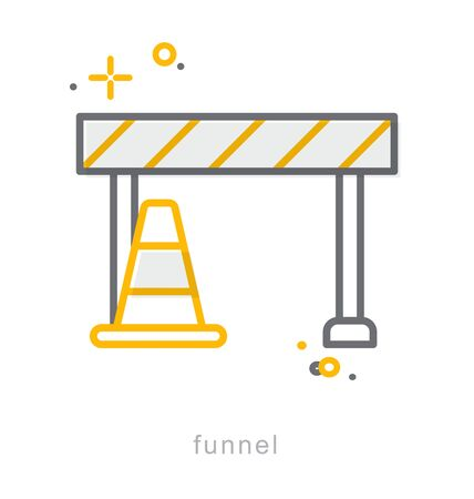 Thin line icons, Linear symbols, Funnel