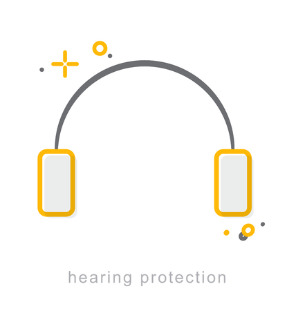 Thin line icons, Linear symbols, Hearing protection