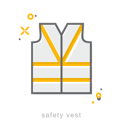 Thin line icons, Linear symbols, safety vest
