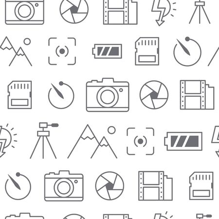 Different line style icons pattern, icons set, Camera.