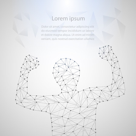 Lines connected to success, symbolizing the meaning of artificial intelligence, Network connection turned into, vector illustration.