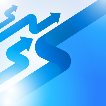 Abstract blue arrow sign growth to technology background, Vector illustration  イラスト・ベクター素材