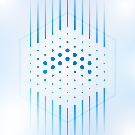 Geometric network abstract background with connected line and dots, Vector illustration 일러스트