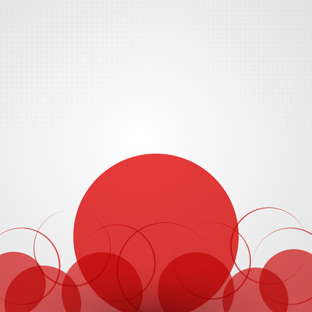 Abstract background with red circles and halftone, Vector illustration