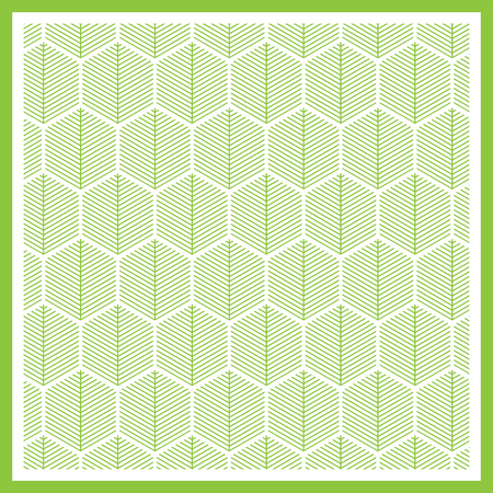 Abstract green lines on white background, Vector illustrator 일러스트