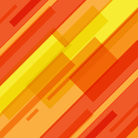 Abstract red and yellow lines technology motion background. Vector illustration
