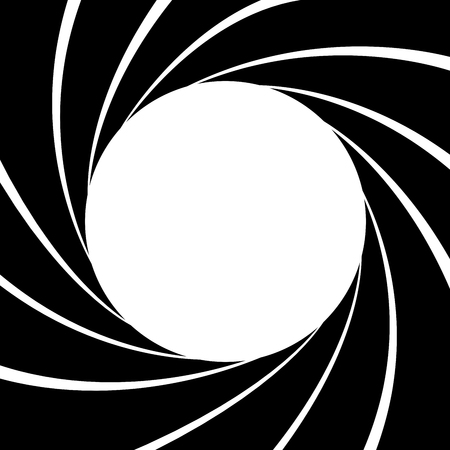 Gun barrel effect a classic theme black and white, Vector illustrator
