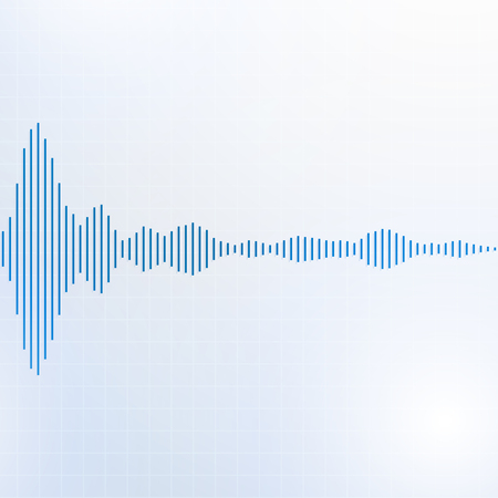 Sound waves lines audio equalizer technology, pulse musical, Vector Illustration