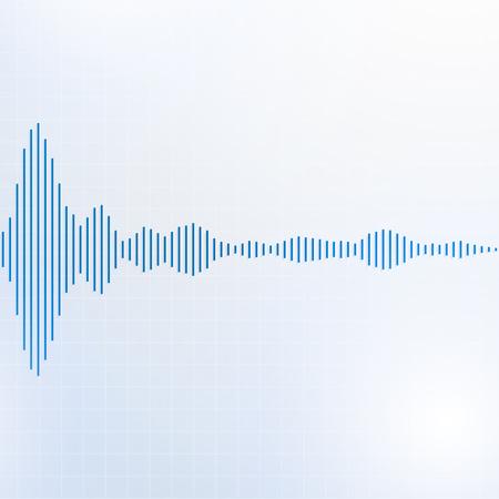 Sound waves lines audio equalizer technology, pulse musical, Vector Illustration