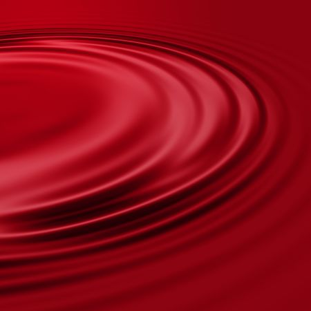Red wine ripples in a deep burgundy color, almost oxblood or candy-apple red.