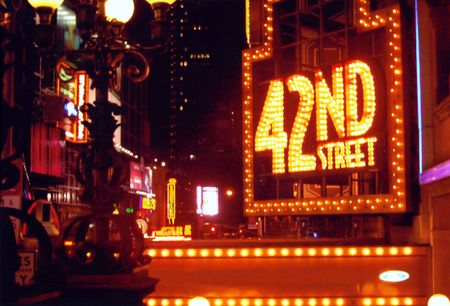 square: 42nd street, Broadway  Times Square area - New York City Stock Photo