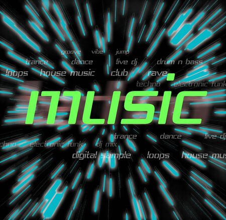themed: a montage themed around music