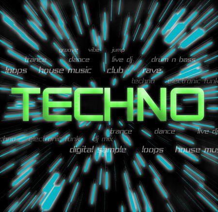 Techno music montage photo