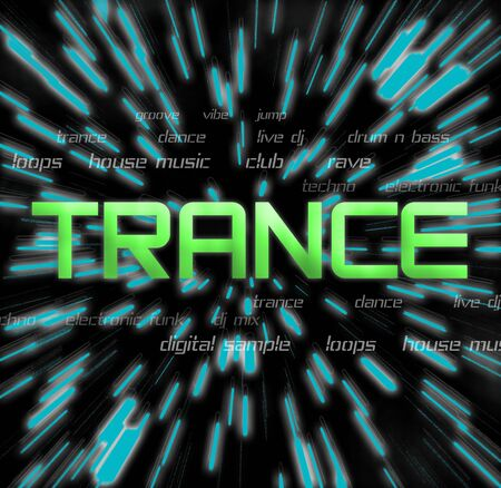 vibe: Trance music montage. Stock Photo
