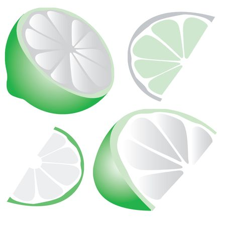 a rasterized vector drawing of some limes