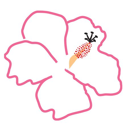 this is a rasterized vector logo of a pink hawaiian hibiscus flower; arrange it any way youd like to in your designs :) photo