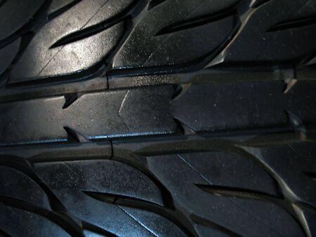 dealerships: a macro shot of some custom tire tread Stock Photo