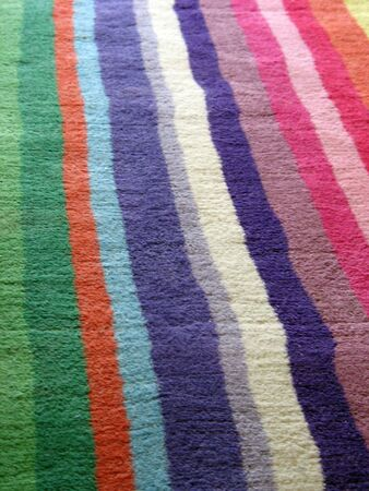 a really colorful carpet