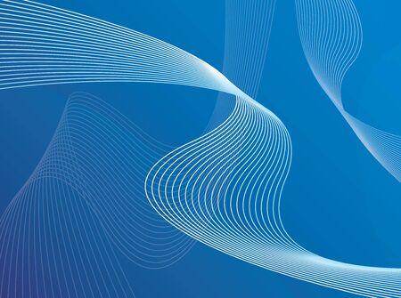ハイテク曲線ワイヤー フレーム型ラインは流れる ribons のような動いていると 3 d 背景。