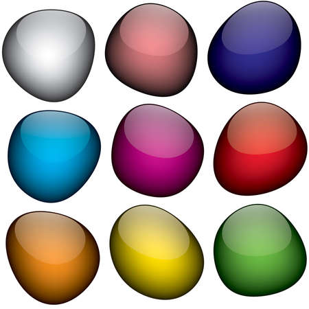 bumpy: An arrangement of colorful shapes that look just like jelly beans.