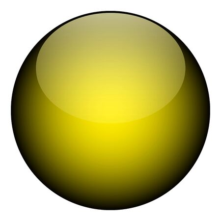 circumference: A yellow orb isolated over white- it works as a great planet, websoftware button, jellybean or other art element.