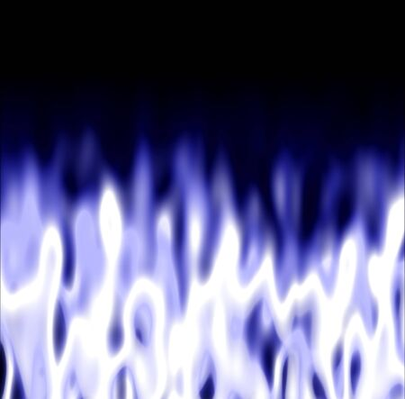 some icy white  blue fire over a black background photo