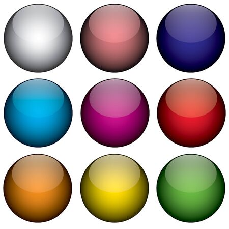 pushbuttons: An arrangement of colorful orbs  circles that look just like buttons, planets, or even jelly beans.