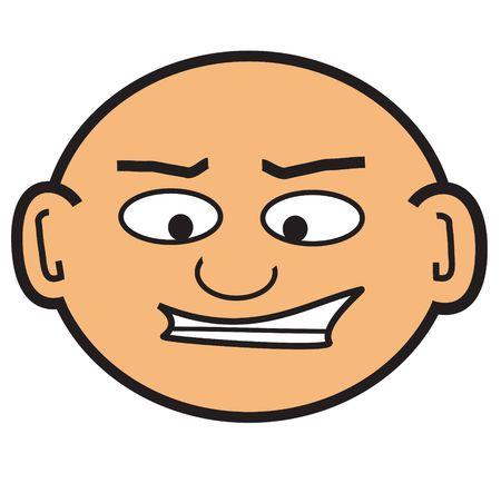 cartoon bald headed man Reklamní fotografie - 416013