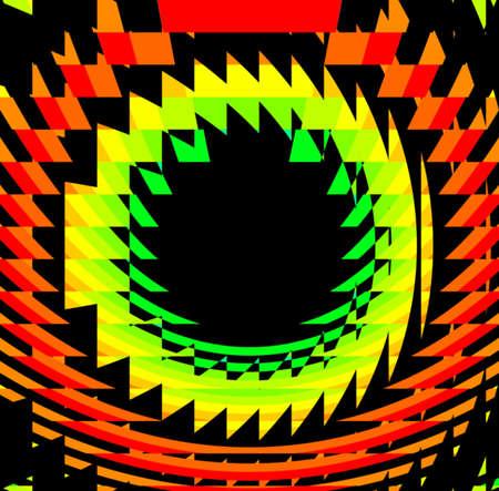 a circular rainbow vortex photo
