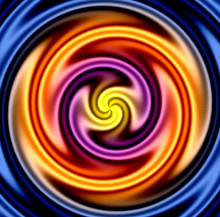Colorful twirl - very liquid looking.  Makes a great background. Stock Photo