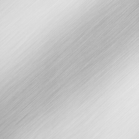 brushed: A high-tech brushed aluminum  steel background - high contrast with diagonal reflective highlights. Stock Photo