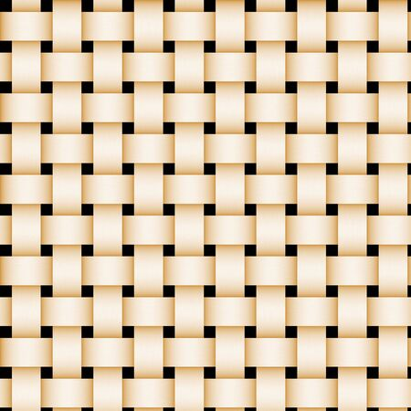 perpendicular: Tan picnic basket-weave texture. Stock Photo