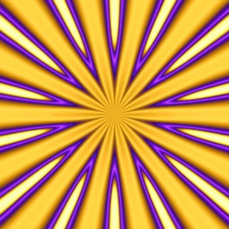 trippy: abstract golden starburst background - pretty trippy Stock Photo