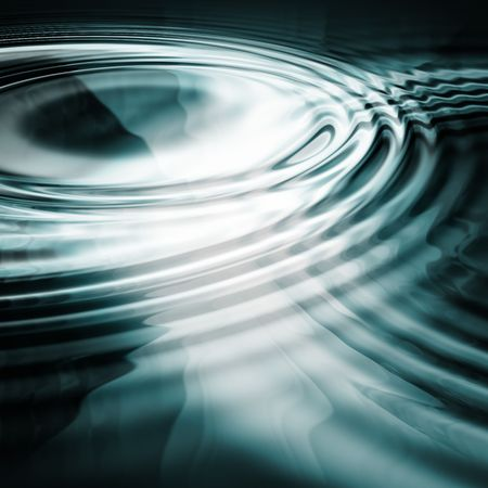 two abstract liquid ripples joining together Stock Photo - 489420