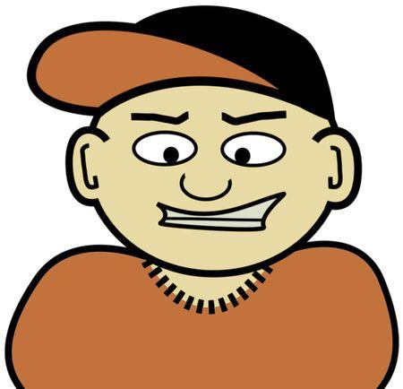 A little Asian homeboy illustrationclip-art. 版權商用圖片