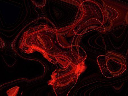 blood plasma: red blood plasma over black