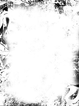 hardcore: black and white grunge border