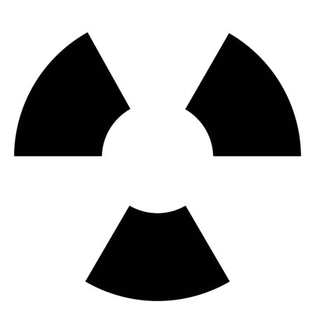 black and white symbol for nuclear or radioactive stuff Stock Photo