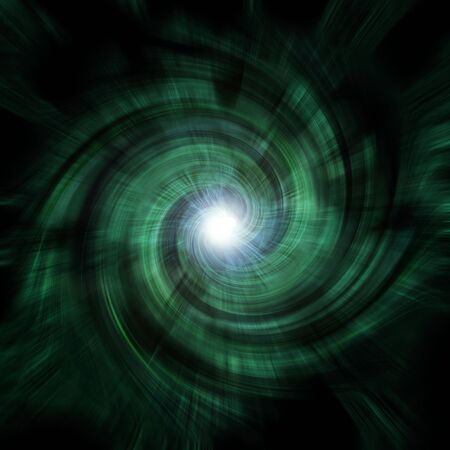 zooming: A green-ish, spiraling tunnel vortex - complete with a central lens flare at the focal point.