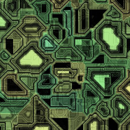 A high-tech circuit board background.  It tiles seamlessly, when setting it as a pattern.