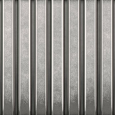 building material: Some corrugated metal  building material with vertical ridges - a great background texture. Stock Photo
