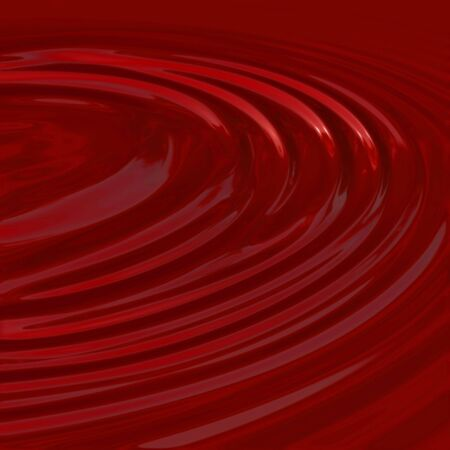 oxblood: a pool of liquid - plenty of circular ripples - can be used as blood, wine, candy, or even paint! Stock Photo