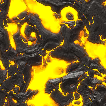 scorched: A 3d illustration of some hot flowing lava.