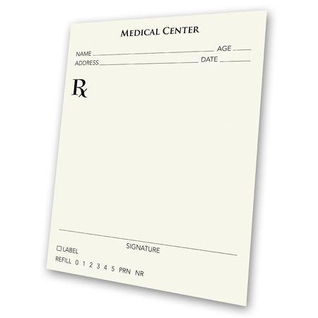 recetas medicas: Una receta almohadilla en blanco - un gran concepto de anuncios. Una receta para un mejor negocio, o una receta para el �xito. Usa tu imaginaci�n, e insertar su propio pu�o y letra.